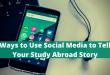 Ways to Use Social Media to Tell Your Study Abroad Story
